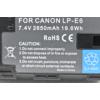 Kép 5/5 - Canon 90D akkumulátor 2650 mAh - Canon LP-E6N
