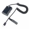 Canon LP-E6 USB-C folyamatosan töltő akkumulátor adapter
