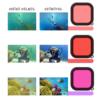GoPro hero 9 vízalatti szűrő filter lencse