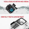 GoPro Hero 9 vízálló tok + vízalatti fényszűrők filter (3db)