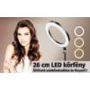 26cm LED körfény, körlámpa, ringlight, kamera kör lámpa + tripod