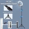 26cm LED körfény, körlámpa, ringlight, kamera kör lámpa + 170cm tripod
