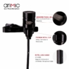AriMic DualMic kétfejű Lavalier csiptetős mikrofon
