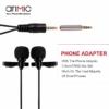 AriMic Dual Mic Lavalier mikrofon