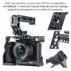 UURig SONY A7 III fém kamera rig-cage - C-A73