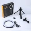 VIJIM 21cm LED Körlámpa - Vlogger Körfény Ringlight Telefon-tartóval + Mini Tripod Állvány