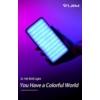 VIJIM VL196 RGB LED fény - színes RGB videó-lámpa - 3000mAh