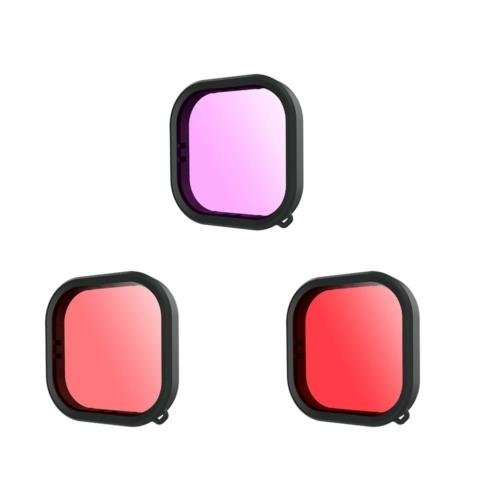 TELESIN GoPro Hero 9vízalatti búvár piros-rózsaszín-magenta fény-szűrő lencse filter
