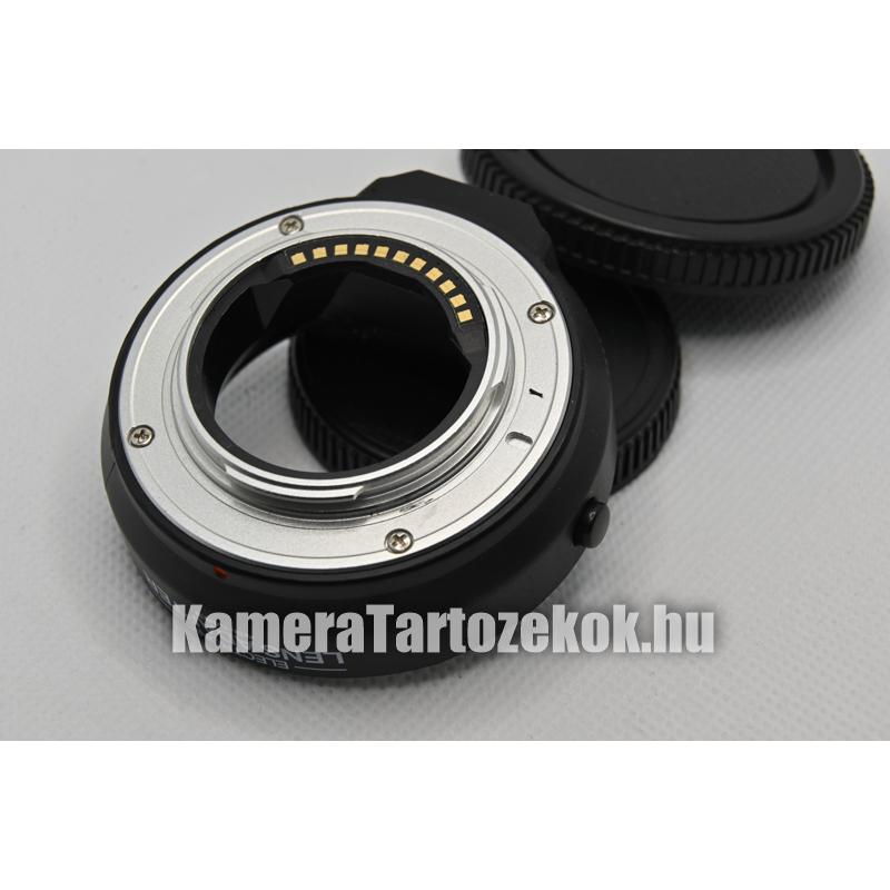 m4/3 4/3 adapter - elektromos Micro 4/3 négyharmad (medium format) átalakító, 4/3-m4/3 - autofokusz