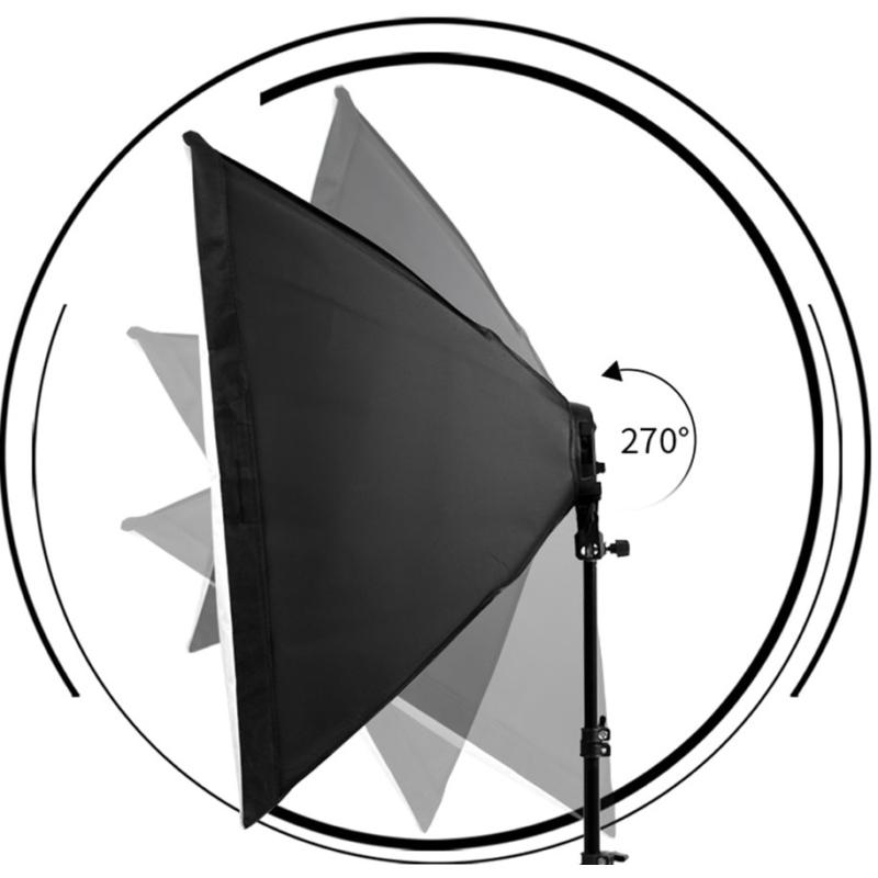Softbox 70x50cm szett 2m -es állvánnyal - Fotó studióvilágítás