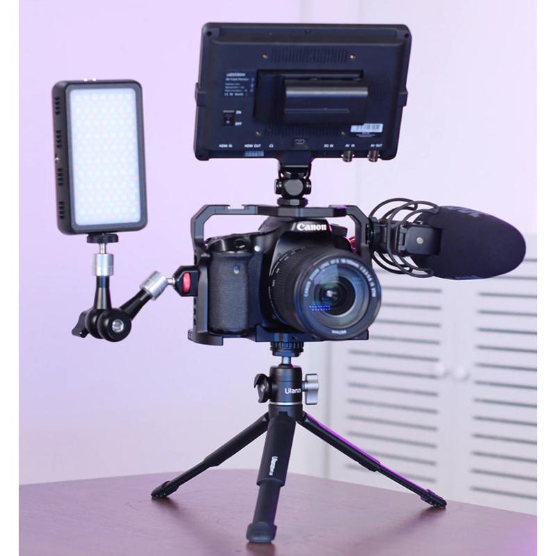 Kamera vlog fém utazó tripod - magnézium-aluminium minitripod
